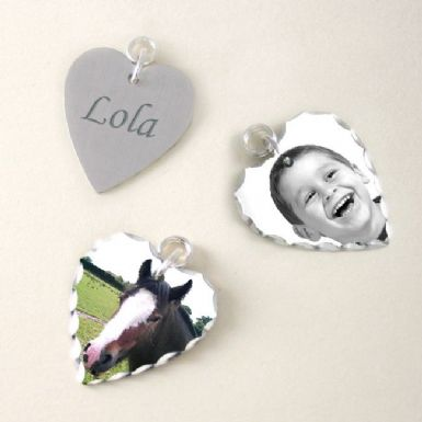 Photo Charm with Engraving - Heart | Someone Remembered